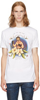 DSQUARED2 White fight The Good Fight T-shirt