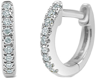 Sabrina Designs 14K 0.05 Ct. Tw. Diamond Huggy Earrings