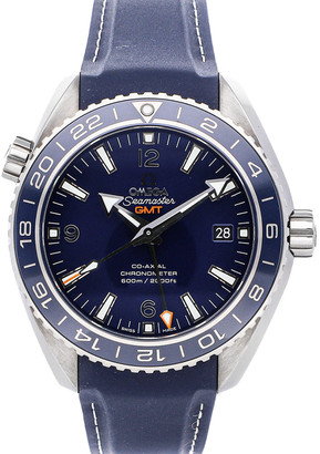 Omega Blue Titanium Seamaster Planet Ocean 600m Co-Axial GMT 232.92.44.22.03.001 Men's Wristwatch 43.5 MM