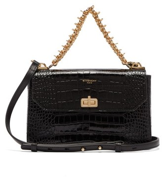 Givenchy Catena Crocodile-effect Leather Shoulder Bag - Womens - Black