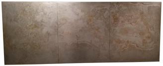 Desert Metal Design Light Pewter Steel Panel Headboard, Wall Mounted, King Size