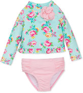 Little Me 2-Pc. Floral-Print Rashguard Swimsuit Baby Girls (0-24 months)