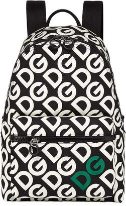 Dolce & Gabbana Men's Logo Mania Nylon Backpack