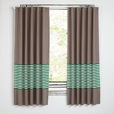 "New School Green Stripe 63"" Curtain"