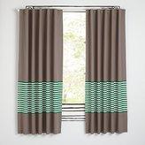 "New School Green Stripe 84"" Curtain"