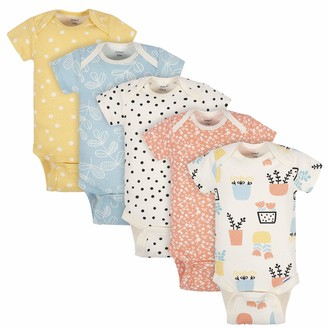 Grow by Gerber Baby Girl's Organic 5-pack Short-sleeve Onesies Bodysuits Pants