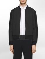 Calvin Klein Platinum Stretch Inset Zip-Front Baseball Jacket