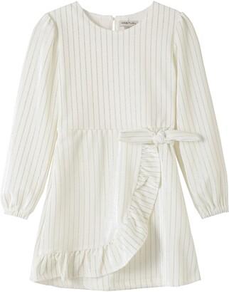 Habitual Kids' Aubrielle Velour Wrap Dress