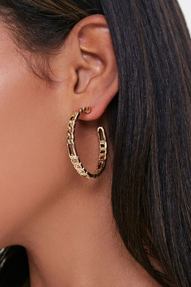 Forever 21 Curb Chain Hoop Earrings