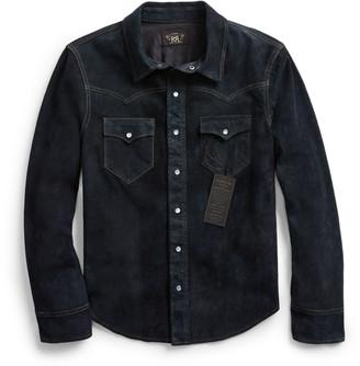 Ralph Lauren Indigo Suede Western Jacket