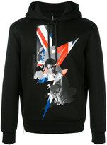 Neil Barrett Sid Vicious hoodie - men - Polyurethane/Viscose - M