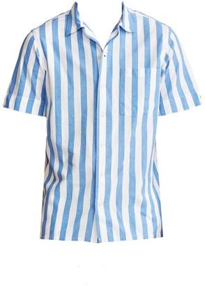 Polo Ralph Lauren Short-Sleeve Striped Beach Poplin Camp Shirt