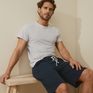 The White Company Mens Pyjama Shorts, Navy, Large