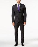 Perry Ellis Portfolio Men's Extra Slim-Fit Black Pinstripe Suit