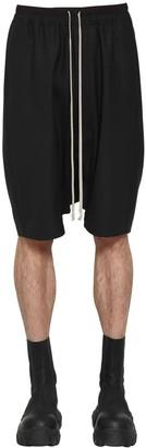 Rick Owens Pods Virgin Wool Blend Shorts