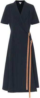 Loewe Crepe wrap dress