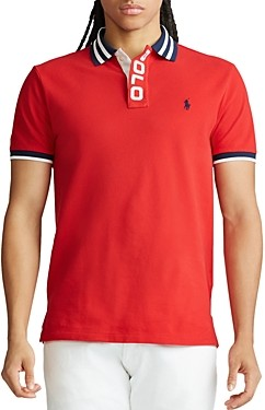 Polo Ralph Lauren Custom Slim Fit Mesh Polo Shirt