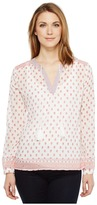Dylan by True Grit - Gauzy Parker Peasant Long Sleeve Blouse Women's Long Sleeve Pullover