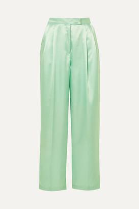 Frankie Shop Karen Satin Wide-leg Pants - Mint