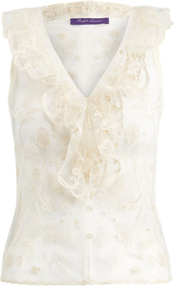 Ralph Lauren Collisa Tulle Blouse