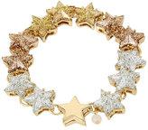 Betsey Johnson Confetti Gold Star Glitter Bracelet