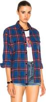 Saint Laurent Oversize Plaid Shirt