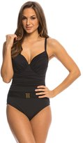 Bleu Rod Beattie Gilt Trip Solid Underwire Molded One Piece Swimsuit (D Cup) 8140022