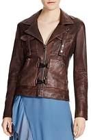 Haute Hippie Blondie Leather Flight Jacket