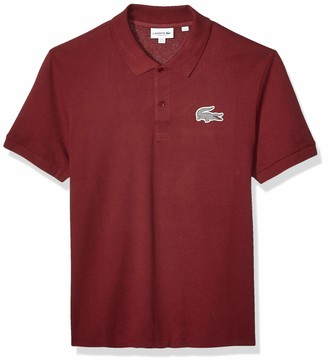 Lacoste Mens Short Sleeve 2 Ply Pique Tattersall Regular Fit Polo Polo Shirt
