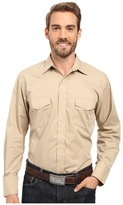 Roper 0487 Solid Broadcloth - Khaki Men's Clothing