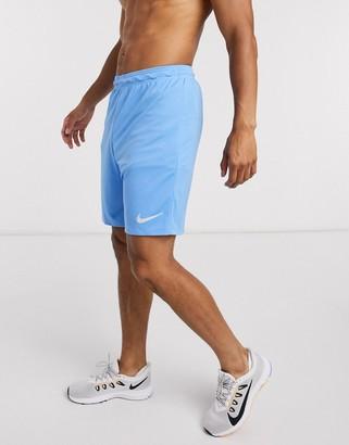 Nike Football Strike shorts in all over print blue