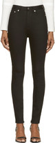 BLK DNM Black High-Waisted Skinny Jeans