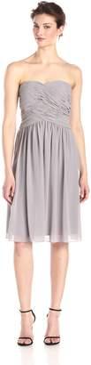 Donna Morgan Women's Anne Short Strapless Chiffon Dress