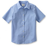 Lands' End Women's Short Sleeve Stretch Shirt-Light Sea Blue