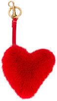 Anya Hindmarch mink heart bag charm - women - Calf Leather/Leather/Mink Fur - One Size