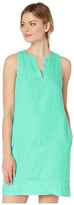 Tommy Bahama Seaglass Linen Shift Dress (Seaport Teal) Women's Dress