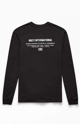 Obey International Chaos & Dissent Long Sleeve T-Shirt