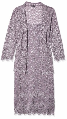 Onyx Nite Women's Short Metallic Lace Dress and Jacket