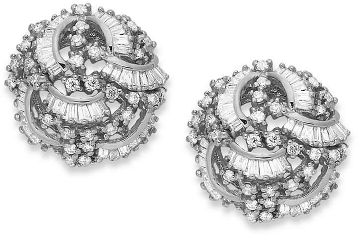 Effy Classique by Diamond Swirl Earrings (1-1/2 ct. t.w.) in 14k White Gold