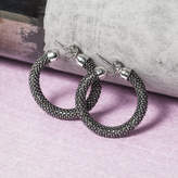 Black Diamond Loel & Co. Cut Hoop Earrings