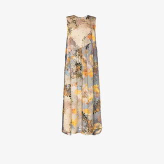 Collina Strada Ritual sleeveless floral silk dress