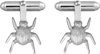 Edge Only Striped Bug Cufflinks In Silver