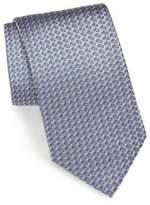 Brioni 3D Diamond Print Silk Tie
