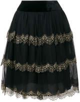 Alberta Ferretti layered tulle skirt