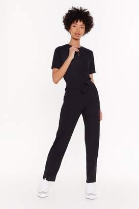 Nasty Gal Womens MS T-shirt & Jogger Set - black - 14