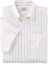 L.L. Bean Wrinkle-Free Classic Oxford Cloth Shirt, Traditional Fit Short-Sleeve Stripe