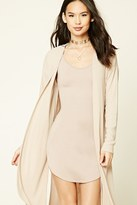 Forever 21 FOREVER 21+ Longline Open-Front Cardigan