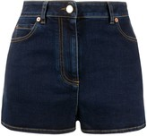 Valentino V plaque denim shorts