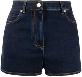 Valentino V plaque denim shorts
