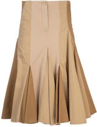 Lanvin Pleated Raffle Skirt